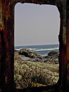 Very old boat Wheel house on King Island