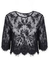 Lace Embellished Crop Tee from Topshop R660,00