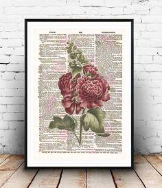 Vintage Flower Neo retro Dictionary paper por SoulArtCorner