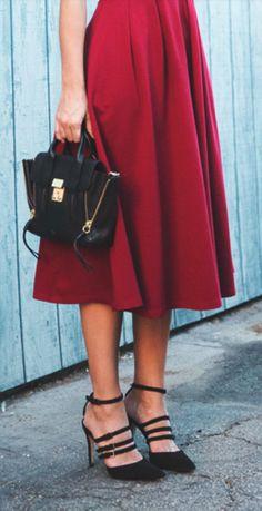 Black + burgundy
