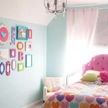 Paint frames & Letters different colors for artsy wall ** girls room