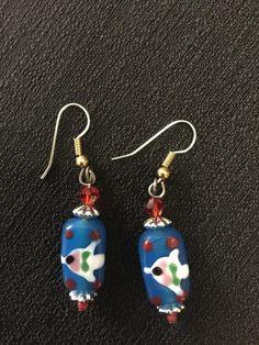 Glass Fish earrings by HartFamilyCreations on Etsy