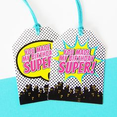 Girl Superhero Happy Birthday Banner – Kaleidoscope Parties