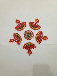 Designs Rangoli, Diwali Diy, Flower Rangoli, Diwali Decorations, Centre Pieces, Craft Items, Mandala Art, Mobiles, Festivals