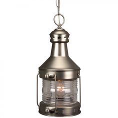 Off Nautical Brushed Nickel One Light Outdoor Pendant with Clear Glass by Craftmade. Nautical Brushed Nickel One Light Outdoor Pendant with Clear Glass Nautical Lanterns, Nautical Lighting, Outdoor Pendant Lighting, Outdoor Ceiling Lights, Outdoor Hanging Lanterns, Lantern Lighting, Ceiling Lighting, Rustic Lighting, Kitchen Lighting