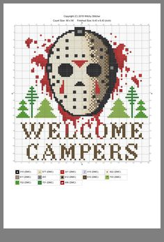 Thrilling Designing Your Own Cross Stitch Embroidery Patterns Ideas. Exhilarating Designing Your Own Cross Stitch Embroidery Patterns Ideas. Cross Stitching, Cross Stitch Embroidery, Embroidery Patterns, Hand Embroidery, Beaded Cross Stitch, Cross Stich Patterns Free, Cross Stitch Designs, Halloween Cross Stitches, Jason Voorhees