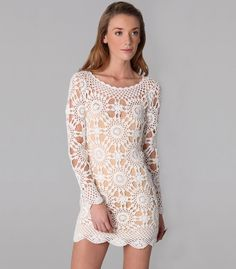 Crochet dress PATTERN detailed description in English trendy