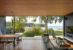 Island Rest: the contemporary family home featuring Reynaers Hi-Finity sliding system Suite Principal, Rest House, Light And Space, Isle Of Wight, Black Kitchens, Mid Century House, Open Plan Living, House And Home Magazine, Island