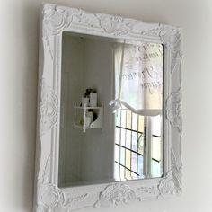 SPEGEL Shabby chic White  61 x 51 cm - Blank yta