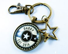 New Daddy Gift or Dad to Be New Dad Keychain by GutsyGoodness
