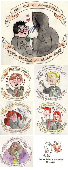 harry potter, valentine's day, holidays, cards, by Kiersti Faret