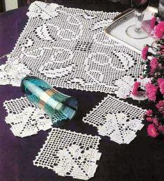 crochet em revista: Para a mesa