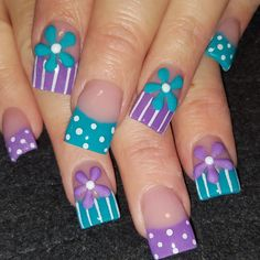 3D Flowers by Oli123 via @nailartgallery #nailartgallery #nailart #nails
