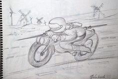 La Moto de Don Quichotte .Christian Eprinchard