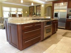 Kitchen Island With Cooktop stove on peninsula,with island in center of kitchen. could do