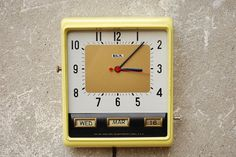 Lux Vintage Yellow Wall Clock