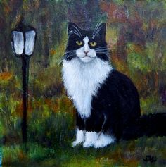 Tuxedo Stan Simone Manley @Simbotic Man In Love, Tuxedo, Paintings, Cats, Fun, Gatos, Paint, Tuxedos, Painting Art