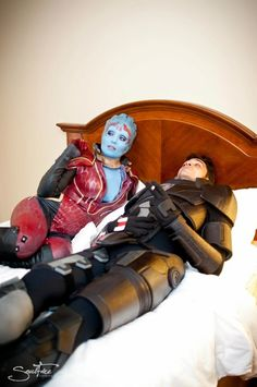 Mark Meer & Rana McAnear as their Mass Effect characters (non-Morinth ending) - at DragonCon, Photography by Soulfire.