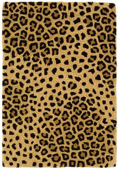 Leopard area rug    #would look great with a pop of red!