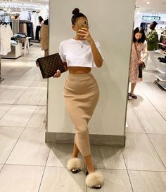 Fashion 2019 New Moda Style - fashion Dope Outfits, Classy Outfits, Stylish Outfits, Fall Outfits, Fashion Outfits, Fashion Clothes, Elegant Summer Outfits, Pink Outfits, Clothes Women