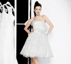 robe mariée blanche courte