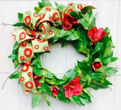 Custom wreath created by Sandy Maccioli of Awesome Abode, Raleigh, NC.