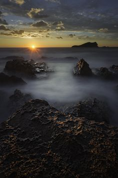 Last Lights by Jose Antonio Hervas on 500px.... #clouds #ibiza #island #lights #long exposure #rocks #sea #seascape #sunset