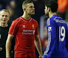 Red vs blue Henderson vs Costa  Liverpool vs Chelsea