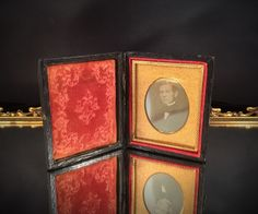 A personal favorite from my Etsy shop https://www.etsy.com/listing/225838501/antique-photo-portrait-leather-tin-type