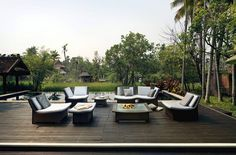 Aesthetic and Timeless Home Outdoor Furniture Design Ideas, SPA Series by Richard Frinier Eco Furniture, Outdoor Furniture Design, Outdoor Wicker Furniture, Indoor Outdoor Living, Outdoor Rooms, Outdoor Decor, Outdoor Patios, Outdoor Stuff, Outdoor Ideas