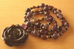 Black Rose Necklace by InspiredByKarma on Etsy, $20.00