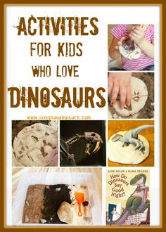 FUN Dinosaur activities, crafts and books for Dinosaur Lovers!