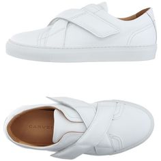 Carven Sneakers (1,175 SAR) ❤ liked on Polyvore featuring shoes, sneakers and white