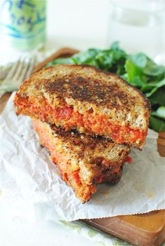 Sun dried tomato and mascarpone grilled cheese