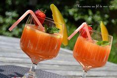 Avec ce temps chaud et estival (même si on est encore au printemps), il faut se rafraîchir !  Ici je vous propose un cocktail sans alco...