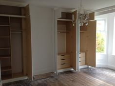 chimney breast built in wardrobes floor to ceiling Alcove Wardrobe, Bedroom Wardrobe, Built In Wardrobe, Master Bedroom, Wardrobe Ideas, Built In Cupboards, Bedroom Cupboards, Bedroom Chimney Breast, Fitted Wardrobe Interiors