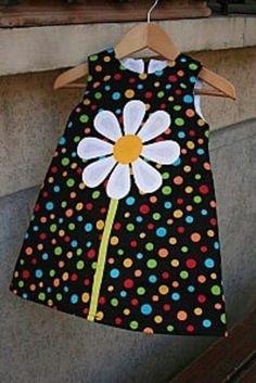 70s Patchwork Dress Girls 6/7