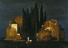 Arnold Böklin; L'isola dei morti, prima versione; 1880; olio su tela; Kunstmuseum Basel, Basel (Svizzera).