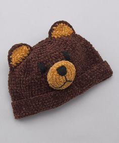 Take a look at this Brown Bear Beanie on zulily today!