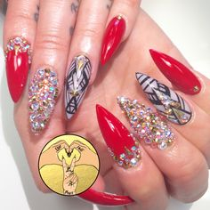 Stiletto nails by Thao Dang