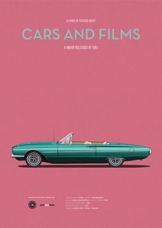 Car from Thelma And Louise. Cars And Films by Jesús Prudencio