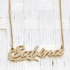 NEW Alegro Name Necklace With Half Line – 24k Gold Plating Personalized Nameplate Pendant – Customized Jewelry Gift