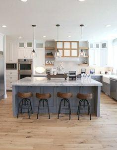 17 Best Farmhouse Kitchen Island Decor Ideas On a Budget