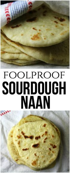 Foolproof Sourdough Naan that comes together easily with a few simple ingredients and an active sourdough starter. The result is a naan that's soft, tender and full of flavor! Dough Starter Recipe, Sourdough Starter Discard Recipe, Starter Recipes, Sourdough Naan Bread Recipe, Homemade Naan Bread, Easy Cooking, Cooking Recipes, Kitchen Recipes, Recipes With Naan Bread