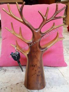 Gantungan Kunci Pohon Kayu Unik