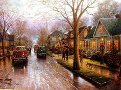Placerville Hometown Christmas by Thomas Kinkade