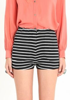 Cute Stripe Shorts!  I could make strips to the black ones