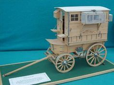 Mobile Pigeon Loft made in 1/12th scale by Brian Young – it was completed in 1986 and took about 400 hours to make. These vehicles were introduced in France and Flanders in the early stages of the First World War, remaining in use until the mid 1920s. By 1918 there were over a hundred used on all parts of the Western Front. Each vehicle contained fifty to sixty carrier pigeons in the care of an NCO and fatigue man.