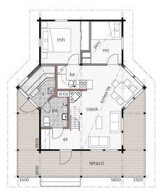 Helmi 56 / Kontio Buildings, Helmet, Floor Plans, Architecture, Garden, Arquitetura, Garten, Hockey Helmet, Lawn And Garden