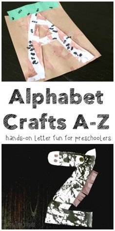 26 cute, original, and simple letter crafts; one for each letter of the alphabet!  Such a fun hands-on way to introduce letters to your preschooler!